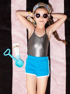 A whole selection of American Apparel kids swimsuits are on sale for $5