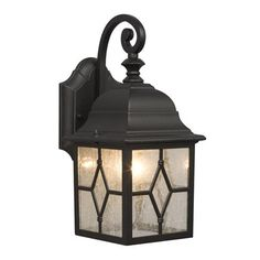 Laredo Texas Star Outdoor Black Medium Wall Lantern In