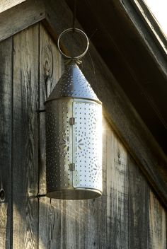 Tin Lantern hanging at the Tin shop at the Genesee Country Village & Museum