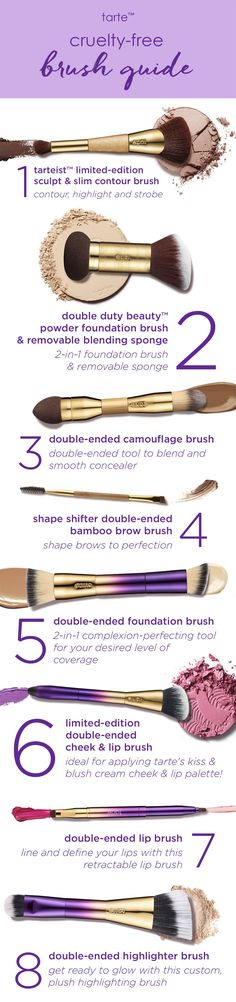 Buff and blend to complexion perfection every time with our cruelty-free brushes! #tartecosmetics