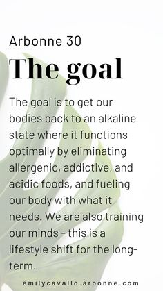 Arbonne's 30 Days to Healthy Living -- Emily Cavallo