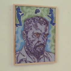 Conrad Botes Self Portrait, 2013 - Reverse Glass Painting