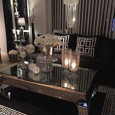 Glam Living Room Decor There are various design trends to pick from in regards to ideas for living room dAcor. Regardless of what style design your house is, there are various living room decorating ideas to select from. Glam Living Room, Home And Living, Living Room Decor, Small Living, Cozy Living, Glam Room, Living Rooms, Living Room Goals, Modern Living
