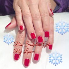 Moulin Rouge hot red n sparkle for Xmas parties :) Bio Sculpture Gel Nails, Xmas Party, Creative Inspiration, Sparkle, Parties, Hot, Moulin Rouge, Fiestas, Party