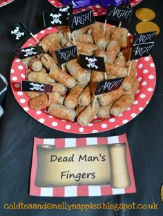 Thrifty pirate party - dead mans fingers
