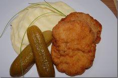 holandský řízek,kaše_01 Sausage, French Toast, Pork, Menu, Cooking, Breakfast, Thermomix, Cooking Recipes, Bakken