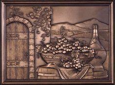"bronze backsplash | Bronze - Vineyard Mural 12""x16"" | MonsterMarketplace.com"