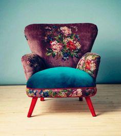 Poppin velvety chair