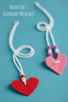 Valentine's Friendship Necklaces | Make and Takes