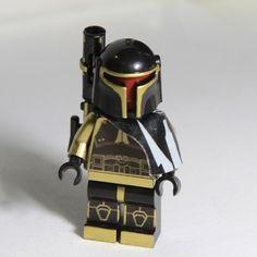 LEGO Star Wars Shadow Mandalorian Custom Minifig by angary68