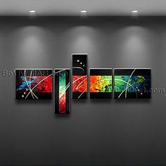 Gorgeous Colorful Abstract Modern Oil Painting Canvas Wall Art Ecstatic Signed Original By Bo Yi Art Studio 82 x 35 ** Be sure to check out this awesome product. (This is an affiliate link) Modern Oil Painting, Oil Painting Abstract, Artist Painting, Painting Canvas, Panel Wall Art, Framed Wall Art, Canvas Wall Art, Modern Canvas Art, Contemporary Wall Art