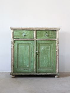 Antique Farm Cabinet, European Painted Cabinet by 86home on Etsy https://www.etsy.com/listing/116946095/antique-farm-cabinet-european-painted