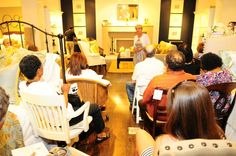Pottery Barn Event-The audience joins me at a great retail space for tips, contests and prizes while teaching them how to decorate and stage a space.