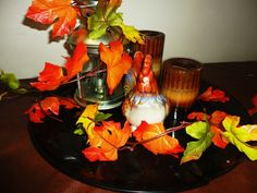 A Thanksgiving table centerpiece. Created by me.