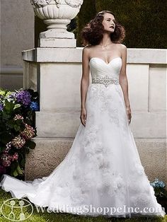 Casablanca Bridal Gown 2061 - Visit Wedding Shoppe Inc. for designer bridal gowns, bridesmaid dresses, and much more at http://www.weddingshoppeinc.com