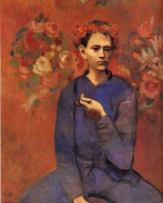 artist-picasso: A boy with pipe via Pablo PicassoSize: 100x81.3...