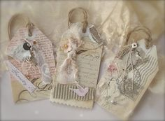 12 Vintage Themed Wedding Tags  FRENCH Shabby Chic