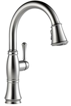 Cassidy Single Handle Deck Mounted Kitchen Faucet with Spray by Delta