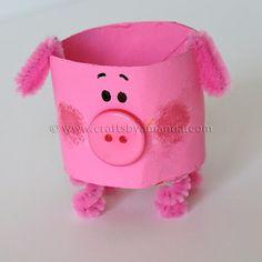 Cardboard Tube Pig: The Farm Series - Crafts by Amanda