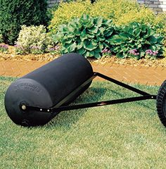 Brinly PRT-48SBH 485-Pound Tow Behind Poly Lawn Roller, 18 by 48-Inch  Lawn rollers are ideal for erasing lawn damage caused by moles and frost heave and can also help pack down loose dirt and newly sewn seed or sod for a perfect looking lawn. The durable, wide Brinly 18 inch x 48 inch tow-behind poly roller is designed to roll larger yards quickly and easily. Large 48 inch rolling width and 485 pound capacity when filled effectively rolls larger yards Large 48 inch rolling width and..