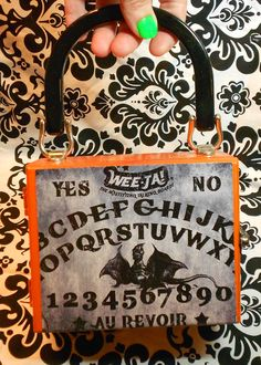 Orange Wee-Ja! /Ouija board mini cigar box purse handmade by Secretia Noxious http://www.etsy.com/shop/NOXIOUSPUNX