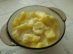ANANÁSOVO-BANÁNOVÁ KAŠA (ananás, banán, posypať kokosom)