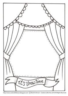 Theatre Stage Coloring Pages Sketch Coloring Page Dance Coloring Pages, Online Coloring Pages, Circus Activities, Dance Picture Poses, Christmas Tree Coloring Page, Dance Crafts, Movie Crafts, Toddler Coloring Book, Theatre Stage