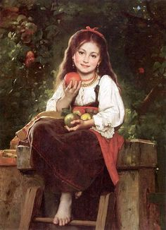 The Apple Picker Léon Bazile Perrault (1832 – 1908, French)