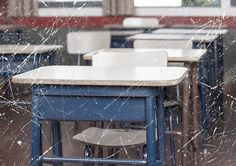 Where is the money invested in charter schools actually spent? (Photo: Desks and Scratched Texture via Shutterstock)