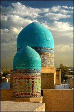 Domes of #Bukhara, Uzbekistan. Photo: Alla Gajeva.   - Explore the World with Travel Nerd Nici, one Country at a Time. http://TravelNerdNici.com