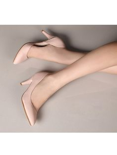 Pink Fashion Women Pointed Shoes Synthetic Leather High Heel