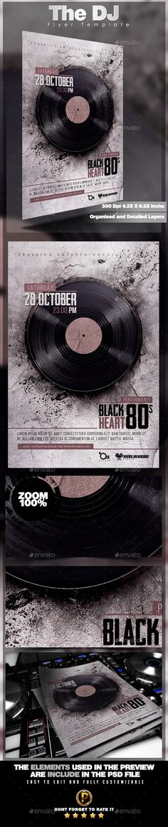 The DJ Flyer Template PSD #design Download: http://graphicriver.net/item/the-dj-flyer-template/13374443?ref=ksioks