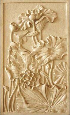 Clay Wall Art, Clay Art, Mural Painting, Mural Art, Stone Sculpture, Sculpture Art, Cranberry Glass Vase, Plaster Art, Flower Phone Wallpaper