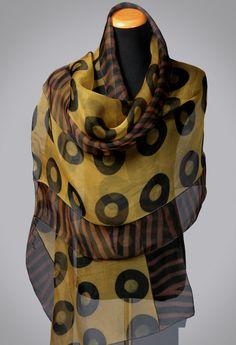 Chartreuse Silk Shibori Wrap by Suzanne Bates (Silk Scarf)   Artful Home