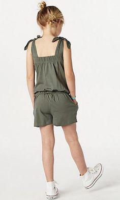 Best 12 vingino-jumpsuit-l-khakigroen Tween Fashion, Little Girl Fashion, Girls Fashion Clothes, Toddler Dress, Baby Dress, Little Girl Dresses, Girls Dresses, Jupe Short, Kids Dress Wear