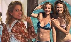 Elsa Pataky switches her bikini for 70's style denim overalls