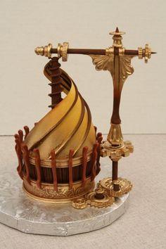 Leonardo Da Vinci-inspired cupcake by Mike's Amazing Cakes
