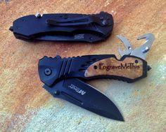 Personalized MTech Folding Knife, Personalized Pocket Knife, Custom Engraved: Father's Day, Groomsmen, Stocking Stuffer, Bachelor Party