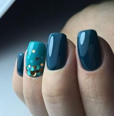 you should stay updated with latest nail art designs, nail colors, acrylic nails, coffin… Teal Nails, Dark Nails, Long Nails, My Nails, Short Nails, Neutral Nails, Sparkle Nails, Classy Nail Designs, New Nail Designs