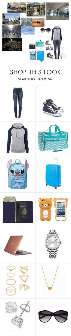 """""""TRAVELING FOR MY MUSIC Show"""" by tkyle134 ❤ liked on Polyvore featuring J Brand, Converse, Disney, Samsonite, Royce Leather, Speck, Calvin Klein, Forever 21, Minnie Grace and Vince Camuto"""
