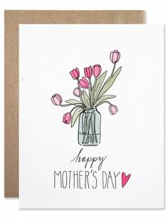 Mother's Day Tulips Card by Hartland Mothers Day Quotes, Mothers Day Cards, Happy Mothers Day, Cute Mothers Day Gifts, Mothers Day Presents, Flowers Mothers Day, Mothers Day Poster, Gift Flowers, Mothers Day Gifts From Daughter