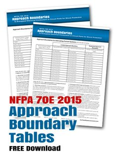 nfpa 70e 2015 approach boundaries to energized electrical parts for shock protection approach boundary table