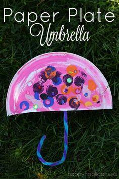 Paper Plate Umbrella - Happy Hooligans