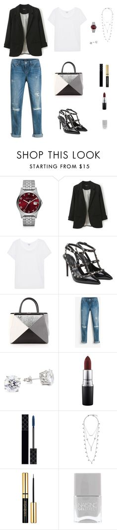 """""""Sem título #66"""" by callmekushi ❤ liked on Polyvore featuring Marc by Marc Jacobs, Splendid, Valentino, Fendi, White House Black Market, MAC Cosmetics, Gucci and Lucky Brand"""
