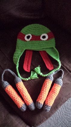 FO Ninja turtle hat and nunchucks for my nephew.