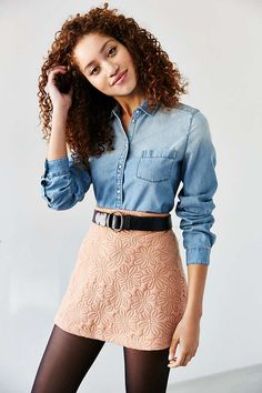 BDG Katie Chambray Button-Down Shirt - Urban Outfitters