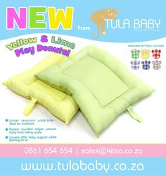 Tula Baby now has New yellow and lime gingham Play Donuts!
