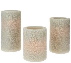 Set of 3 Candle Impressions Indochine Flameless Candles in Grey on QVC