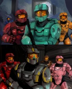 """""""We were coming to rescue you!"""" - Red vs Blue, Season 12, Episode 8 (Art by madqueenmomo on Tumblr)"""