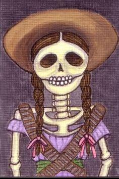 Day of the dead# Mayeli art# Adelita# Zapatista